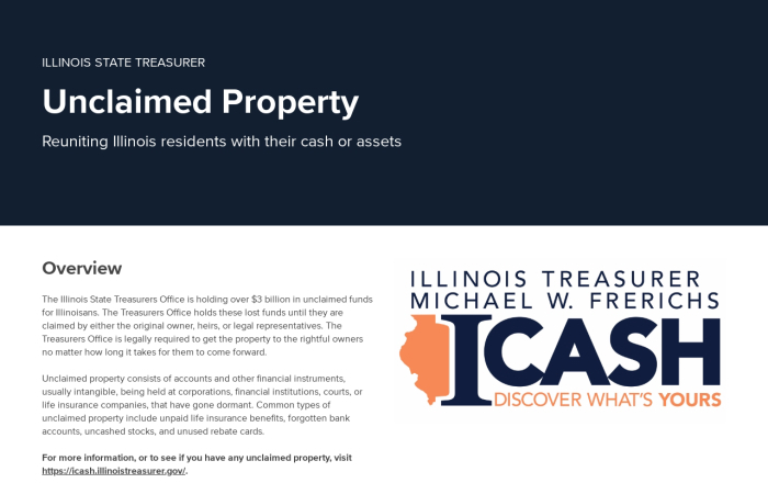Welcome - Illinois State Treasurer - The Vault